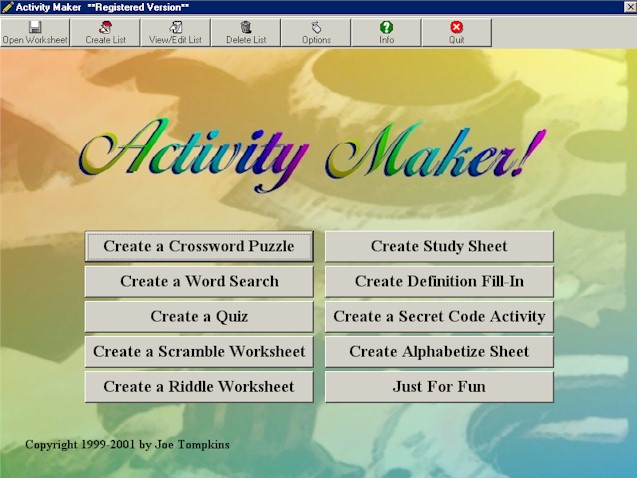 ActivityMaker - All-in-one worksheet, puzzle, and quiz maker!